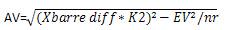 R et T calcul AV